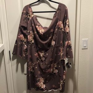 NWOT. Muave/purple Charlotte Russe dress. Size 3X